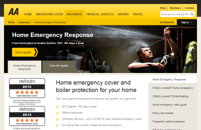 Official AA Emergency Response UK Website