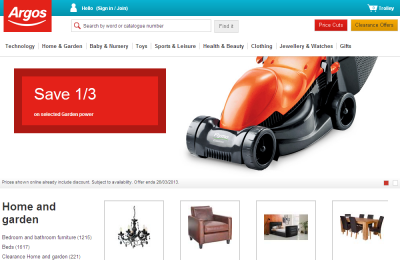 Official Argos Catalogue UK Website