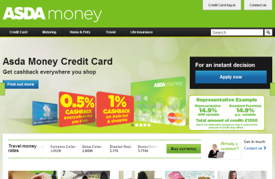 Official Asda Finance UK Website
