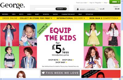 Official Asda George UK Website