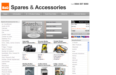 Official B&Q DIY Spares UK Website
