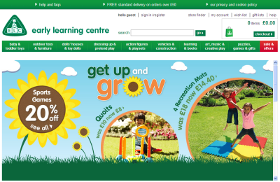 Official Early Learning Centre UK Website