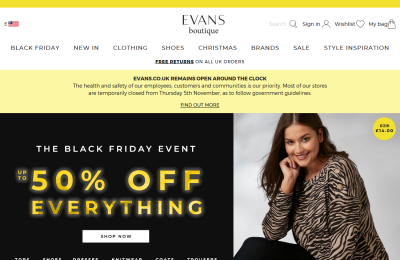 Official Evans Fashion UK Website