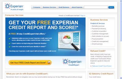 Official Experian UK Website