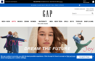Official Gap UK Website