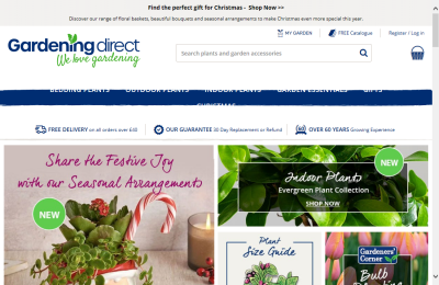 Official Gardening Direct UK Website