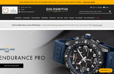 Official Goldsmiths Jewellery UK Website