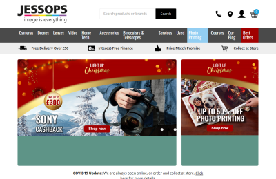 Official Jessops Photographic UK Website