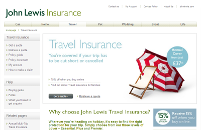 Official John Lewis Insurance UK Website