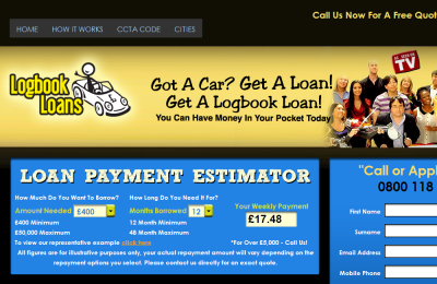 Official Logbook Loans UK Website