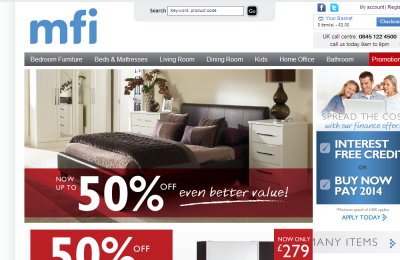 Official MFI Furniture UK Website