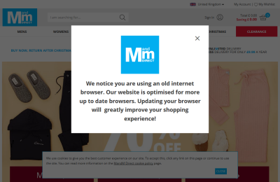 Official M and M Direct UK Website