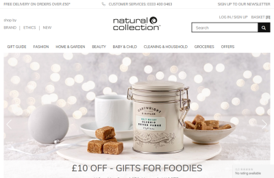 Official Natural Collection UK Website