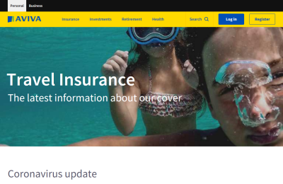 Official Aviva Travel Insurance UK Website