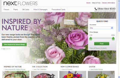 Official Next Flowers & Wine UK Website