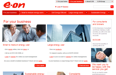 Official E.ON for Business UK Website