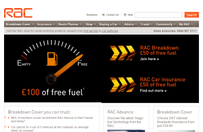 Official RAC UK Website