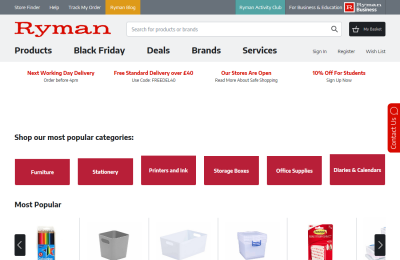 Official Ryman Stationery UK Website