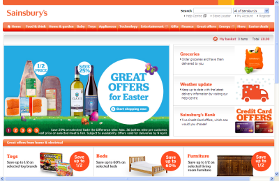 Official Sainsbury's UK Website