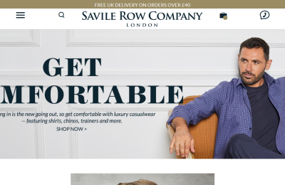 Official Savile Row UK Website