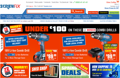 Official Screwfix Direct UK Website