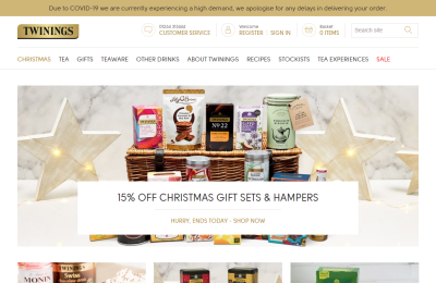 Official Twinings UK Website