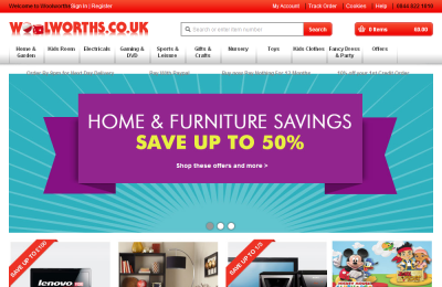 Official Woolworths UK Website